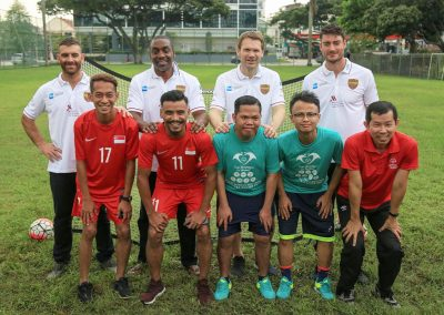 Football clinics with the Masters Football legends