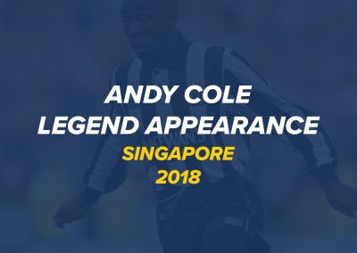 Q&A with Andy Cole | Singapore 2018