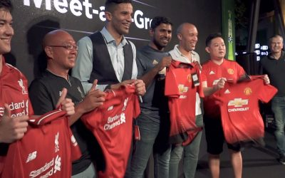 David James and Mikael Silvestre meet Singapore fans at Man United vs Liverpool viewing