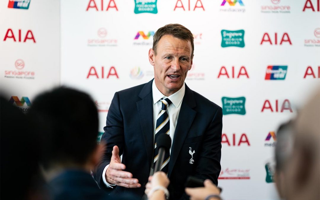 Teddy Sheringham helps launch ICC Singapore, presented by AIA