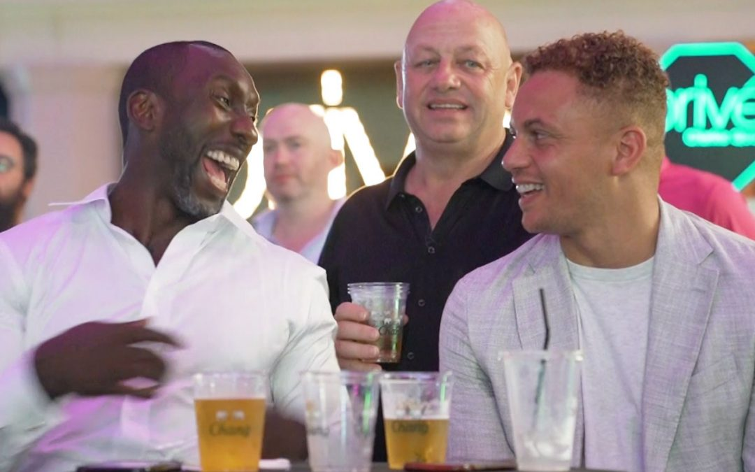 Wes Brown and Jimmy Floyd Hasselbaink meet fans with Chang and Singtel
