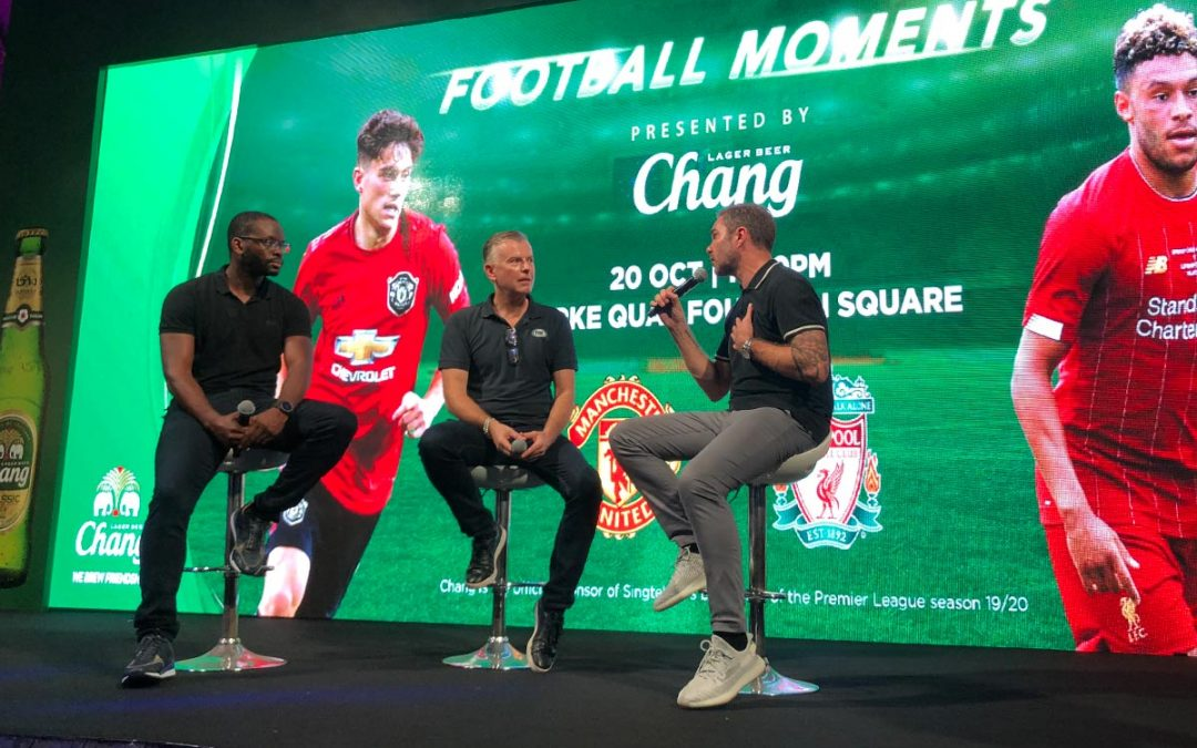 Saha and McAteer watch Manchester-Liverpool derby with fans in Singapore